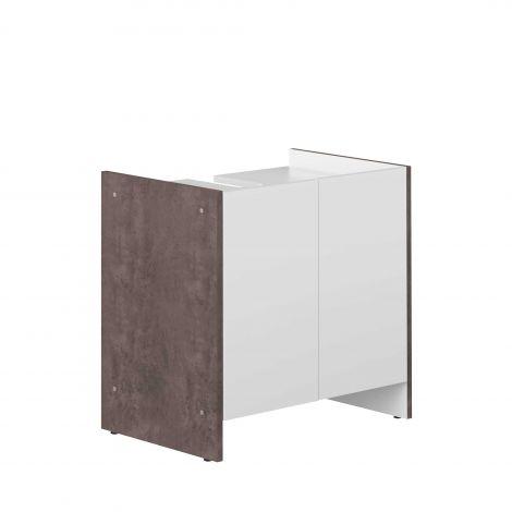 Wastafelkast Biarritz - wit/beton