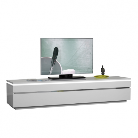 Tv-meubel Elif 220cm - hoogglans wit