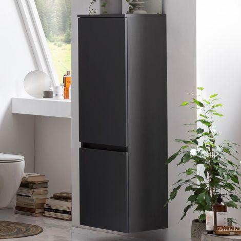 Colonne Kornel/Pisca 40cm 2 portes - gris graphite