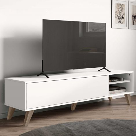 Meuble TV Kim 165cm - blanc