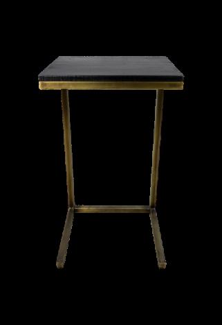 Table d'appoint Finnley - lavis noir / or antique - bois de manguier / fer