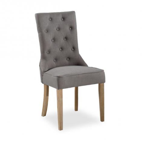 Lot de 2 chaises Hilary - gris