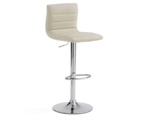 Ensemble de 2 chaises de bar Barnard - beige