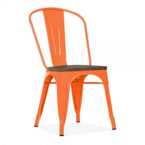 Set van 4 stoelen Victoria - oranje