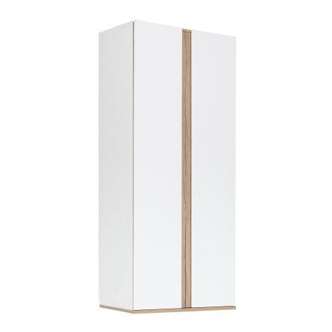 Kledingkast Birger 100 cm 2 deuren - wit