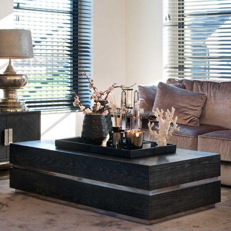 Salontafel Bony 150x80cm - zwart/zilver