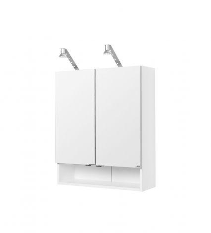 Armoire 2 portes miroir Rallye 60cm - blanc