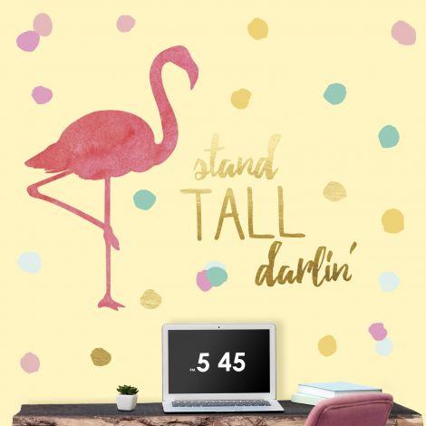 Sticker mural Flamingo Stand Tall