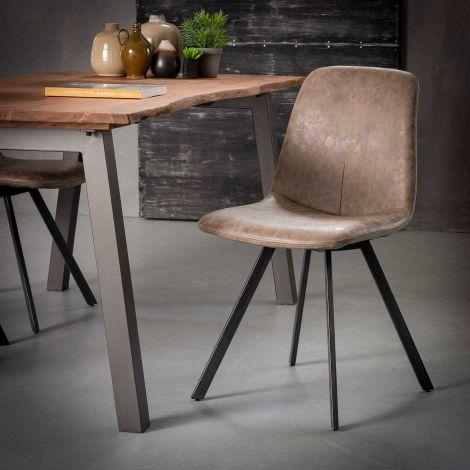 Set van 4 stoelen Valentina - bruin
