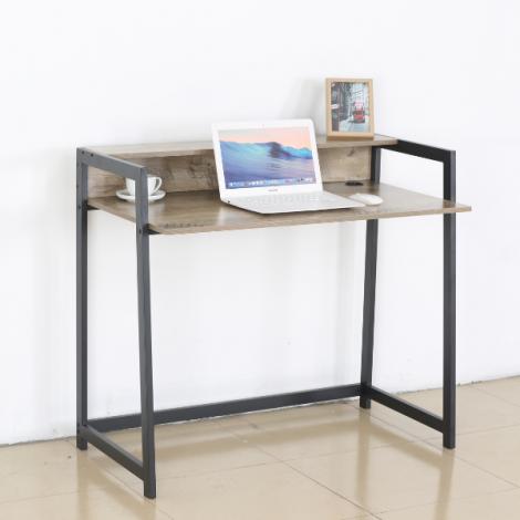 Bureau Nola 104cm - zwart/bruin