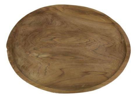 Houten bord - ø38 cm - teak