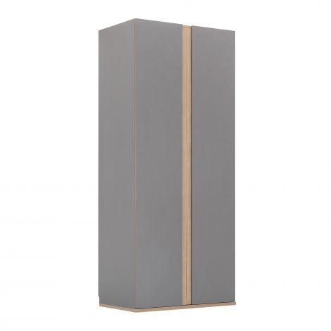 Kledingkast Birger 100 cm 2 deuren - grijs