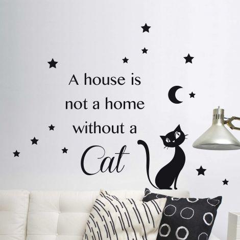 Muursticker Cat