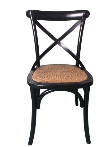 Set van 2 stoelen Erdo - zwart