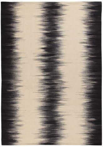 Vloerkleed Kilim Ikat Black Ivory 160x230