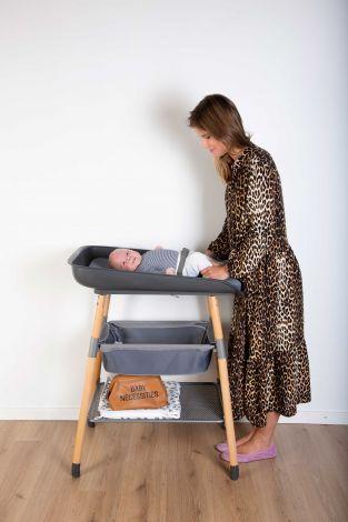 Verstelbare verzorgingstafel Evolux met aankleedkussen - antraciet