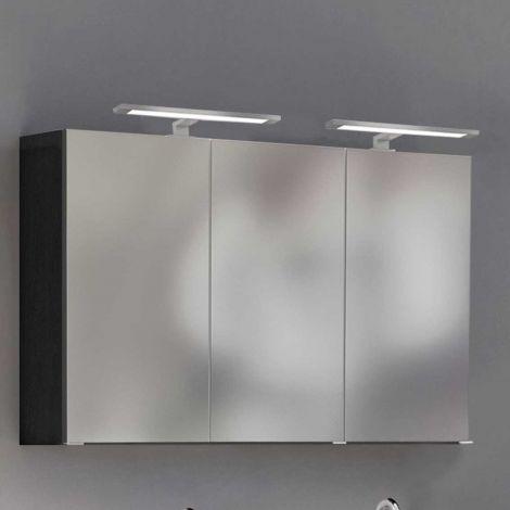 Armoire de toilette Lotuk 120cm 3 portes - gris graphite