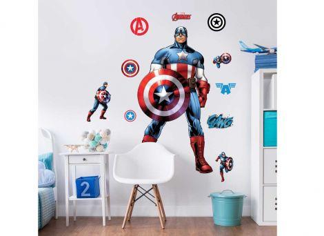 XL muursticker Captain America