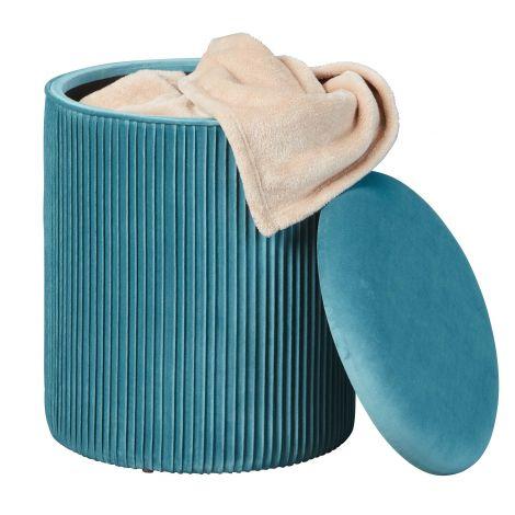 Poef Sofiane ø35 cm - blauw