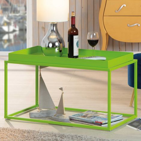 Salontafel Club 80x45 metaal - groen