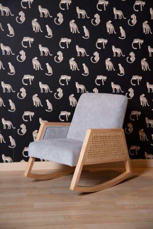 Schommelstoel voor kinderen Canné - grijs