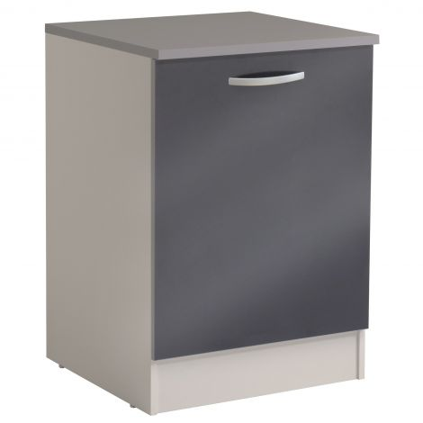 Meuble bas Spott 60 cm avec porte - glossy grey