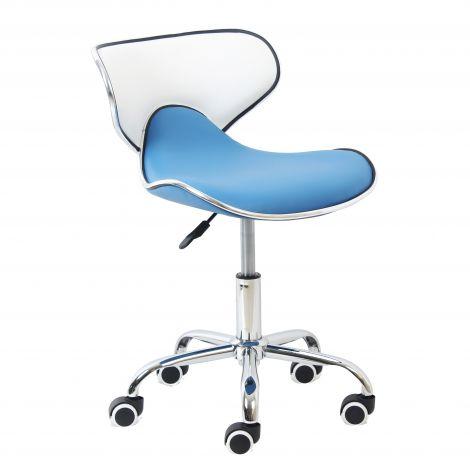 Chaise de bureau Spring - bleu/blanc