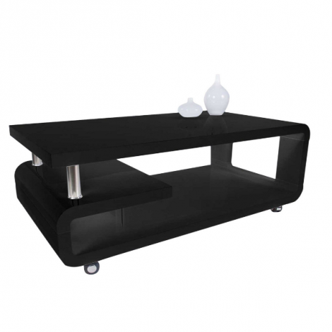 Salontafel Hakim 115x60 - hoogglans zwart