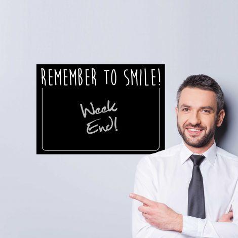 Muursticker Remember to smile - krijtbordsticker