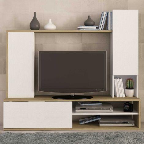 Tv-meubel Boaz 180cm - eik/wit