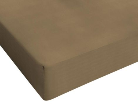 Hoeslaken Jersey taupe 80/90/100x200cm