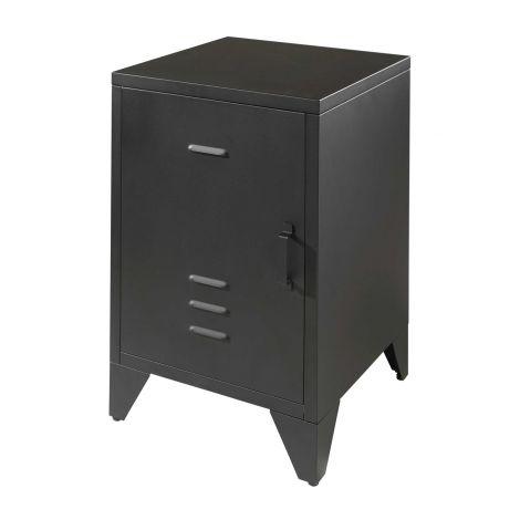 Table de chevet Bronxx en métal  40x60 - noir mat