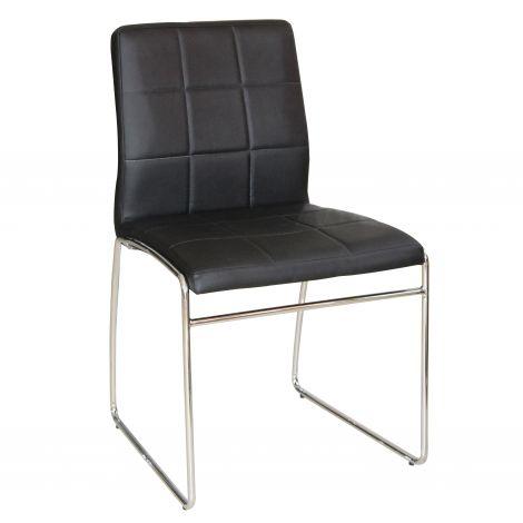 Set van 2 stoelen Tine - zwart