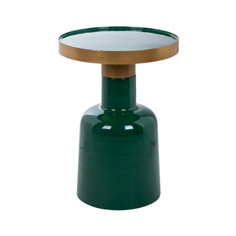 Bijzettafeltje Kudus ø36,5cm - groen/goud
