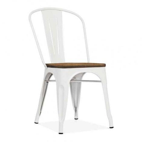 Set van 4 stoelen Victoria - wit