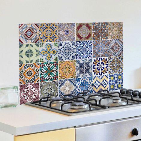 Muursticker Tegels achterwand keuken - multi