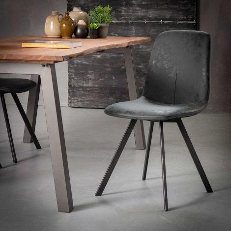 Set van 4 stoelen Valentina - zwart