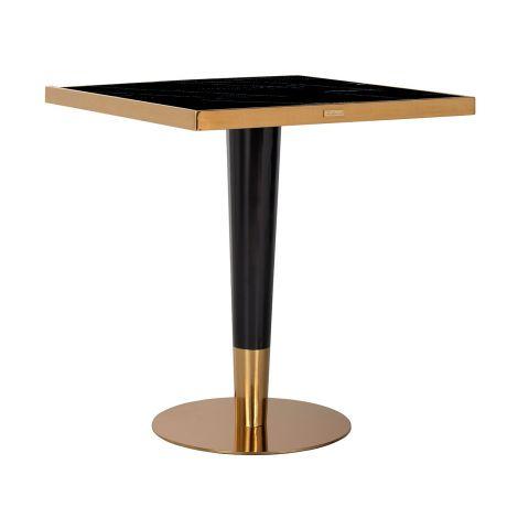 Bartafel Osker 70x70 - goud/zwart