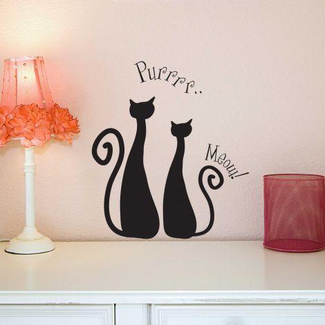 Muursticker Cats
