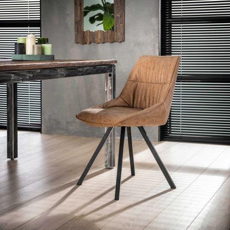 Set van 4 stoelen Ellie - bruin