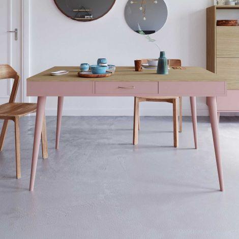 Tafel Horizon 134x85 - eik/roze