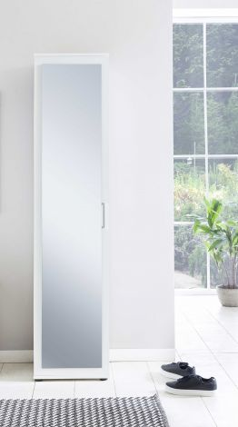Kast Hidde met spiegeldeur - wit
