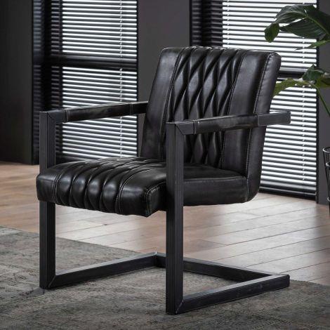 Set van 2 fauteuils Grins - antraciet
