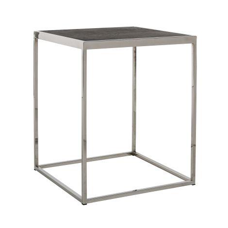 Table d'appoint Bony 50x50cm - noir/argent