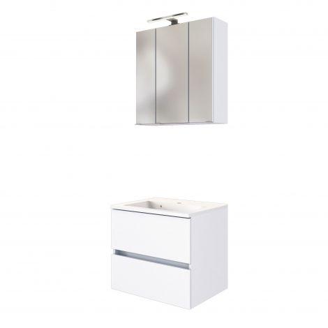 Set meuble lavabo Brama 60cm - blanc