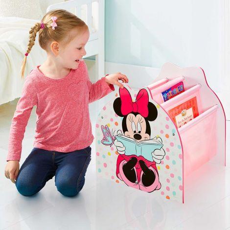 Minnie Mouse - Bibliothèque à pochettes pour enfants - Rangement de livres pour chambre d'enfant