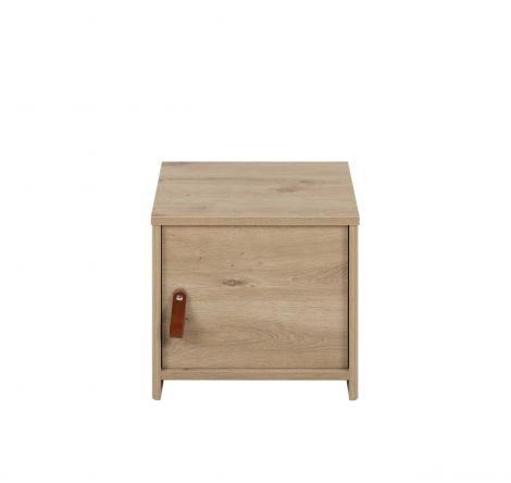 Table de chevet Liam 1 porte - chêne artisan