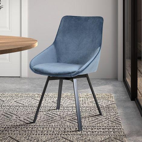 Set van 2 stoelen Mathias - blauw