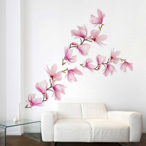 Reuze muursticker Magnolia