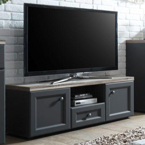 Meuble TV Norah 122cm - gris/brun